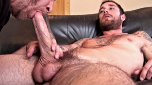 Handsome Guy w/Massive Cock – Feeds Cum to Man + Funny Outtakes