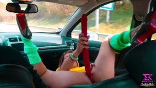 I use my dildo during a car trip