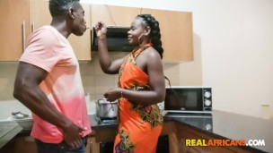 Real Black Wife Nailed Hard In Kitchen