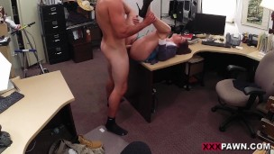 XXXPAWN – Busty Amateur Desperate For Cash Fucks Store Owner In Backroom